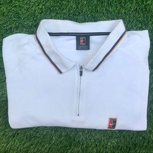 Vintage Nike 1/4 Button Polo Shirt XL